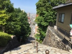 From this vantage point you can see into the women's hotspring of Dogo Onsen.