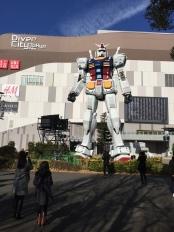Gundam Statue in January 2017