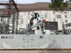 Gundam Statue being dismantled last year. Would a ginormous statue of Kome take its place?