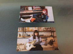 Photo cards from the two shows